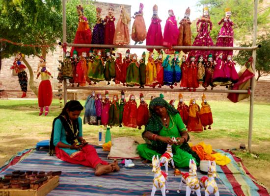 Puppet Sellers in Mehrangarh Fort